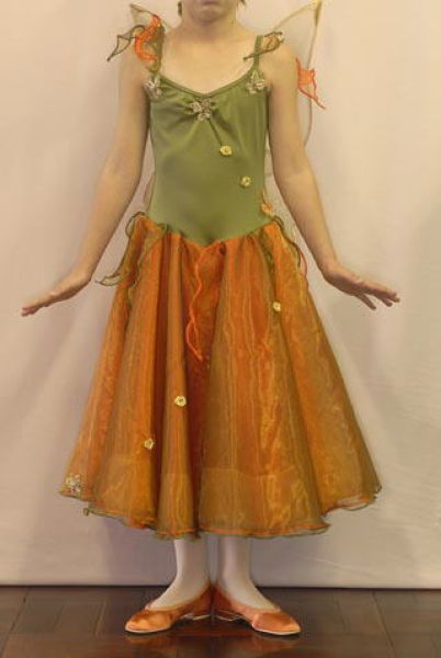 Fairy orange and olive with matching shoes