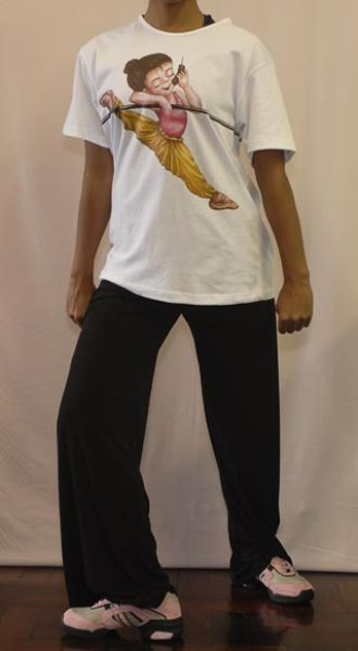 Hip hop outfit with ballet barre T-shirt