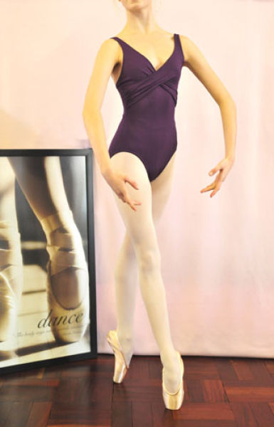 Leotard with draped detail