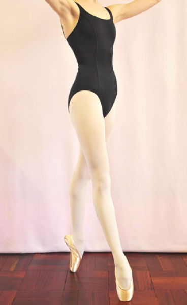 Leotard with front seams
