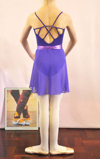 Leotard matching chiffon skirt