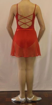 Leotard red with fancy back